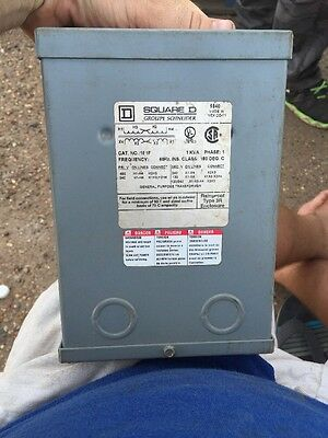 Square D Schneider Electric Transformer Cat No 1S1F In Rainproof Enclosure 240v
