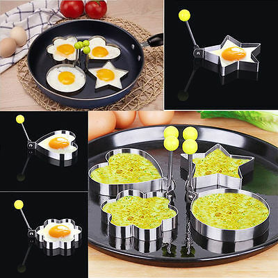 Breakfast Cooking Tools Mold Stainless Steel Fried Egg Shaper Ring Pancake Mould