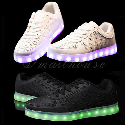 Unisex LED Light Up Luminous Shoes Sportswear Sneaker Breathable Casual Shoes