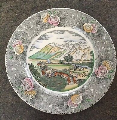"""Adams Currier Ives Pattern """" The Rocky Mountains """" Misprint  Plate England"""