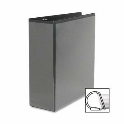 "Sparco Slant Ring View Binder, 4"" Capacity, 11""x8-1/2"", Black (SPR09800)"