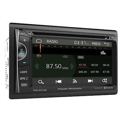 "Power Acoustik PDN-621HB Double DIN CD/DVD Player 6.2"" GPS Navigation Bluetooth"