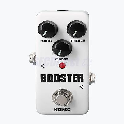 White Electric Guitar Effect Pedal Booster Boost with True Bypass Accessory
