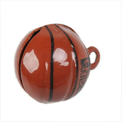 5x Charms Basketball Jingle Bells Fit Festival/Party Ornament Decorative 270054
