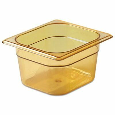 Rubbermaid 205P Hot Food Pan, 1/6 Size, Amber, Each (RCP205PAMB)