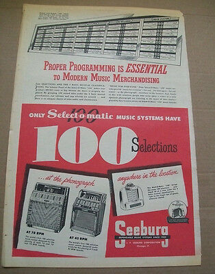 Seeburg 100 Selections Select-o-matic phonograph 1951 Ad- essential to modern