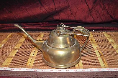 """Trade Mark Knapp New York Solid Brass Watering Can Double Handle 10""""x5"""""""