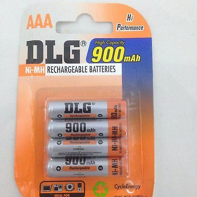 AAA Battery Rechargeable 4/pack 900mAh