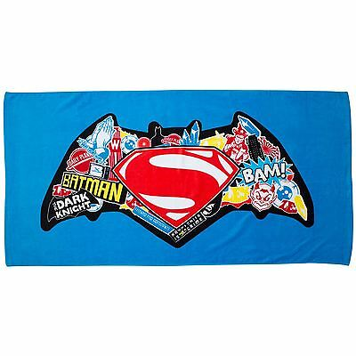 Batman V Superman Clash Towel - Childrens 100% Cotton Free P+P