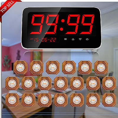 KERUI Wireless Restaurant Waiter Service Calling System 3 ID DIsplay Anywhere