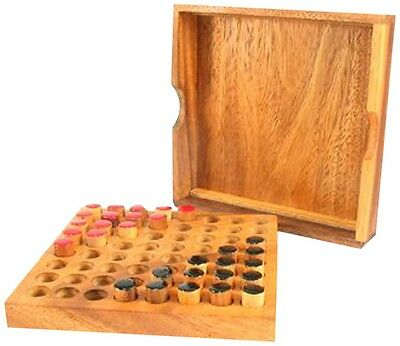 Wooden Tactile Chinese Checkers Board Game for the Blind
