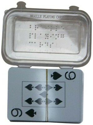 Plastic Braille Playing Cards for the Blind--New in Box