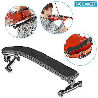 Neewer Comfy Shoulder Rest for 3/4 - 4/4 Violin with Soft Thick Padding-Black