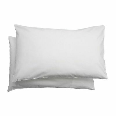 Pair IKEA LEN Cotton Pillowcases for Cot Pillow Baby Toddler Kid White 35 x 55cm