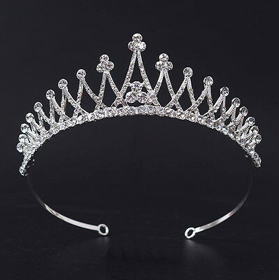 4.5cm High Crystal Adult Girl Wedding Bridal Party Pageant Prom Tiara Crown