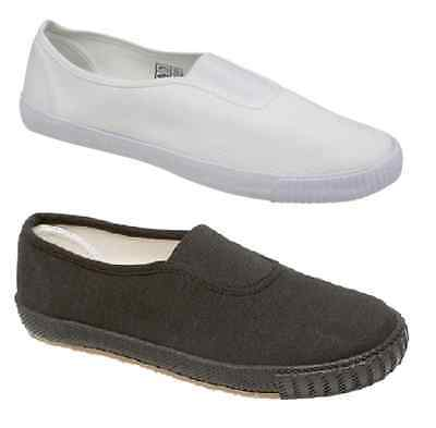 Mens Womens Fashion Espadrilles Pumps Slip On Canvas Plimsoll 6 7 8 9 10 11 12
