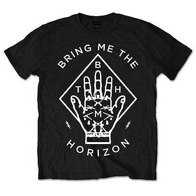 Official Unisex Men's BRING ME THE HORIZON DIAMOND HAND Music Band T Shirt