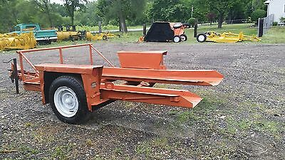 Ditch Witch Trailer S4 Tilts For Easier Loading Single Axle Pintle Hook Used