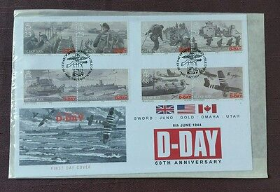 Isle of Man - 2004 60th Anniversary of D Day Set of 8 on First Day Cover