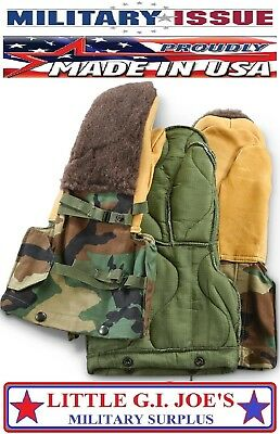NEW USGI Military Issue Woodland Camo Arctic Mittens Extreme Cold Weather Gloves