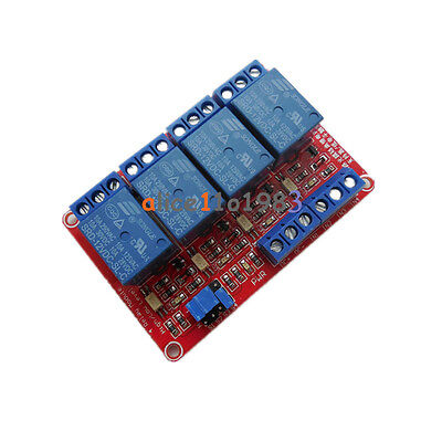12V 4 Channel Relay Module With Optocoupler High and Low Level Trigger
