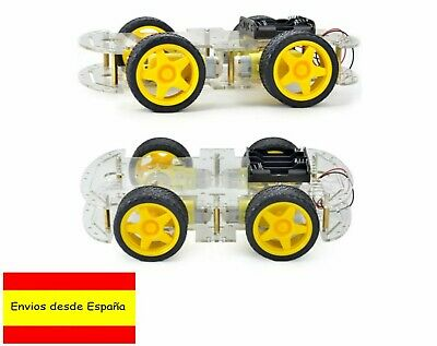 Kit Chasis Robot Smart Car 4WD coche 4 ruedas robotica Arduino DIY chassis