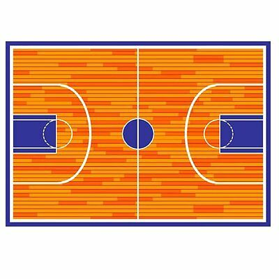 Kids Children Basketball Court Sports 3' X 5' Area Rug