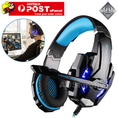 EACH 3.5mm Gaming Headset MIC LED Headphones G9000 for PC Laptop PS4 Xbox One