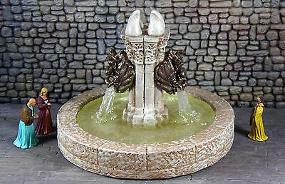 Painted Dragon Fountain 1 - Works with Dwarven Forge and DnD D&D