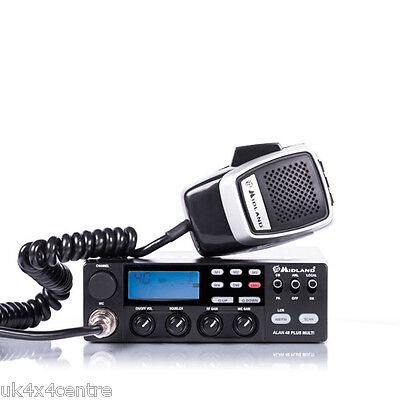 Mobile CB Radio Midland Alan 48 Plus Multi Standard UK 40 and all EU bands