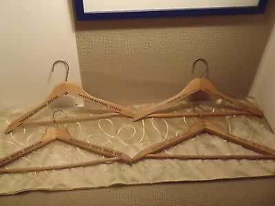 vintage advertising coat hangers wooden CN Hotels, Morrisons, Admiral Beatty