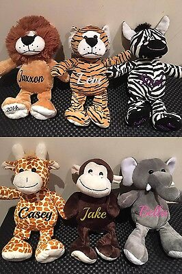 Personalised Animals Small Cuddle Buddy Baby Gift Arrival, Get Well Gift