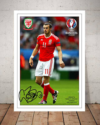 Gareth Bale Wales Football Euro Finals 2016 Autographed Signed Photo Print