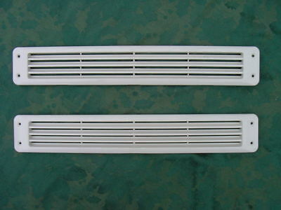 BAYLINER BOAT BILGE EXHAUST  VENT LOUVER MARINE WHITE 17-9/16 x 2-3/4 PAIR NEW!