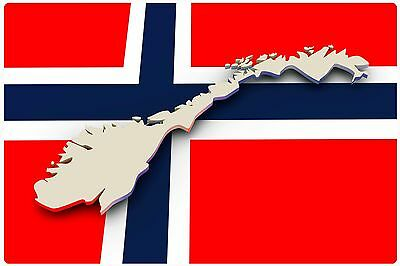 Refrigerator fridge magnet NORWAY FLAG OSLO vinyl photo educational