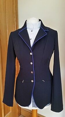 Clearance! John Whitaker Softshell Competition Jacket Navy/royal Blue Piping