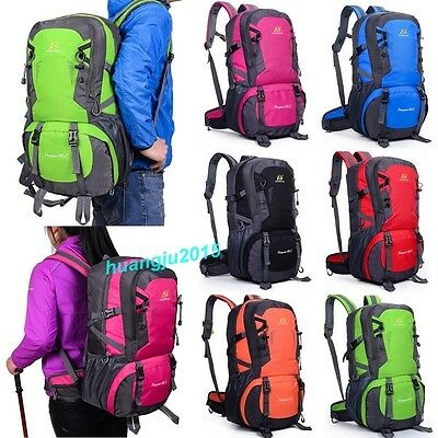40L Large Waterproof Hiking Camping Travel Backpack Outdoor Luggage Rucksack Bag