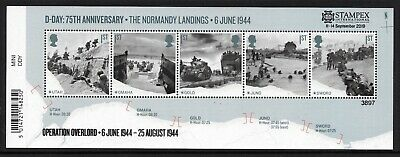 2019 Autumn Stampex Ltd Edition D-Day Normandy Landings mini-sheet. FREEPOST!