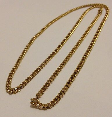 """1/20 12K Gold Filled Antique Chain Necklace 27.5"""" #70816"""