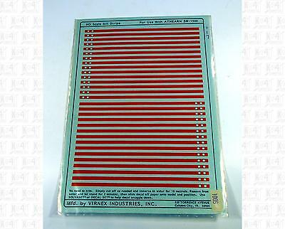 Virnex  decals HO Medium End Stripes for Athearn SW-1500 yellow  F36