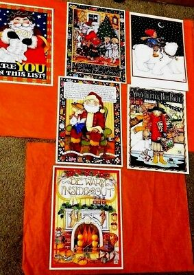 Mary Engelbreit RARE Christmas Gift  Posters 6 pcs  classic illustrations