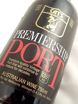 1980 GEELONG CATS Premiership Vintage Port Isle of Wine
