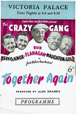 Programme Victoria Palace Theatre London 1947 Crazy Gang Together Again