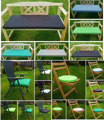 Various Waterproof Bench & Seat Pads Garden Furniture Cushions Indoor/Outdoor