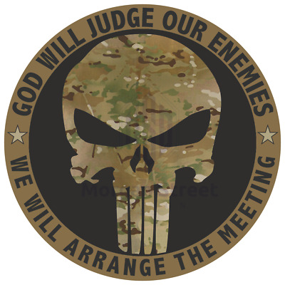 """PUNISHER SKULL CAMO US ARMY MILITARY FROM 2/"""" TO 50/"""" CAR TRUCK DECAL STICKER USA"""