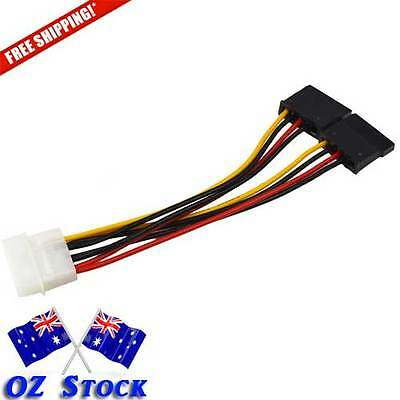 1 x 4 Pin IDE to Serial  ATA SATA Hard Drive Power Cable Splitter - OzStock