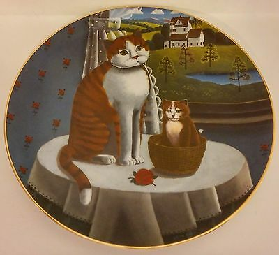 1981 Lynell Marketing Inc Steven Klein Eyes Of The Seasons Spring Cat Plate Usa