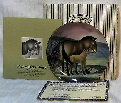 W S George The Przwalski's Horse Collector Plate 1991 by Will Nelson