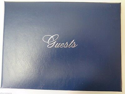 Cumberland Leather Grain Cover Guest Book 96P 160x210 Navy 762516NY *
