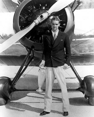1934 Famous Aviator Pilot HOWARD HUGHES Glossy 8x10 Photo Print Portrait Poster